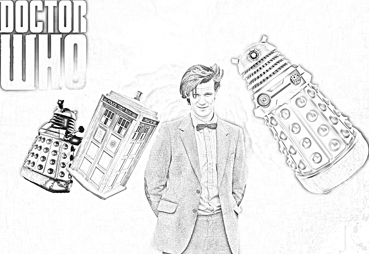 free dr who coloring pages - photo#30